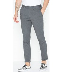 selected homme slhskinny-jersey pants b noos byxor grå