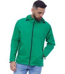 zelanda chaqueta rompe vientos manga larga con capota cremallera y bolsillos en delantero