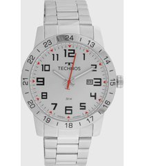 relógio technos 2115mwq/1k prata