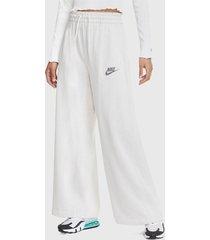 pantalón de buzo nike w nsw pant ft m2z blanco - calce holgado