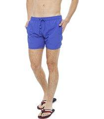 traje de baño blocktres classic azul - calce regular
