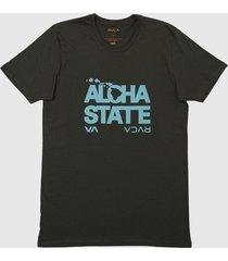 camiseta bold hawaii rvca - verde - masculino - dafiti