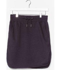 womens casual loopback mini skirt - black