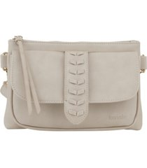 kensie women's whipstitch fashion crossbody bag