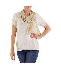 cotton scarf, 'guatemala springtime' (guatemala)