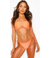 basic bandeau bikini, orange