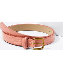 loft embossed criss cross keeper belt