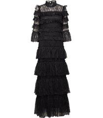 carmine maxi dress maxi dress galajurk zwart by malina