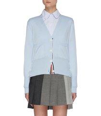 intarsia stripe back cardigan