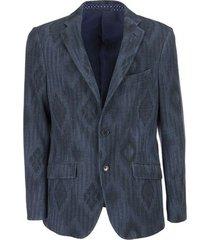 geometric pattern jersey jacket
