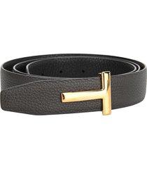 tom ford logo embellished t-belt