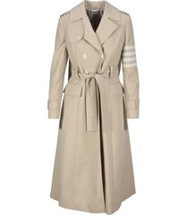 4-bar stripe trench coat