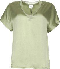 zijden stretch top odette  groen