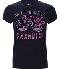camiseta  california color azul, talla s