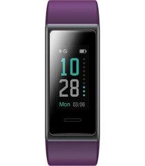 smartwatch reloj inteligente marca cubitt color morado modelo ct1