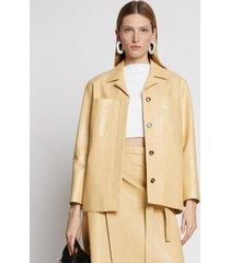 proenza schouler leather jacket birch/brown 12