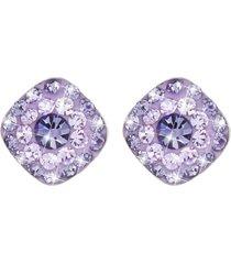 orecchini in argento 925 rodiato e cristalli per donna