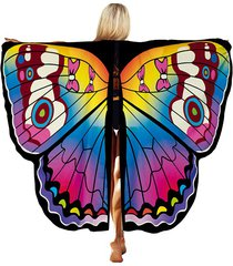 halloween party decorative ombre butterfly wing cape