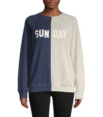 colorblock cotton-blend sweatshirt