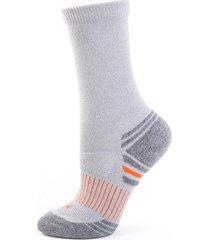 calcetín hombre carza sport melange gris claro lippi