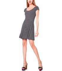 betsey johnson drop-waist striped knit dress