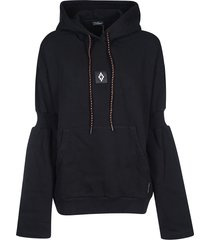 marcelo burlon attached shoulder hoodie