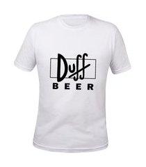 camisa masculina simpsons duff beer tshirt algodão basica preço baixo