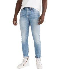 men's madewell athletic slim authentic flex selvedge jeans, size 33 x 32 - blue