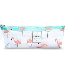 cosmetiquera flamingo verde color surtido, talla uni