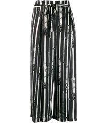 l'agence belt print culottes - black