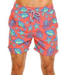 pantaloneta acuario naranja hombre