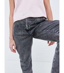 motivi jeans baggy con pinces donna grigio