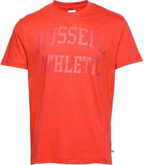 ru iconic s/s t-sh t-shirts short-sleeved orange russell athletic