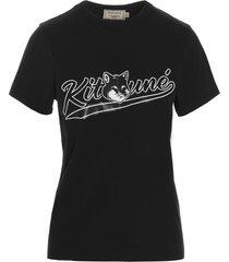 maison kitsuné varsity fox t-shirt