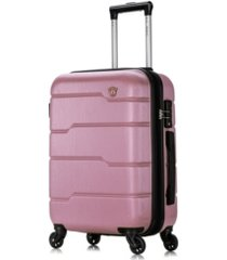 "dukap rodez 20"" lightweight hardside spinner carry-on luggage"