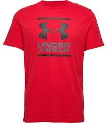 ua gl foundation ss t t-shirts short-sleeved röd under armour