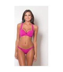 lingerie pink tricot sutiã nadador e calcinha conforto feminino