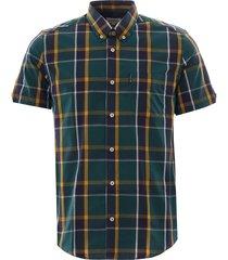 ben sherman textured check shirt | dark green | 59087-651