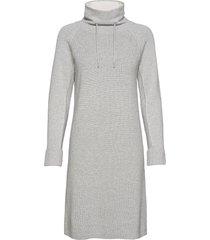 dresses flat knitted knälång klänning grå edc by esprit