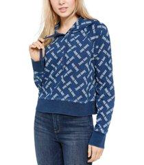 tommy jeans logo-print hoodie