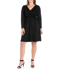 women's plus size classic belted dress
