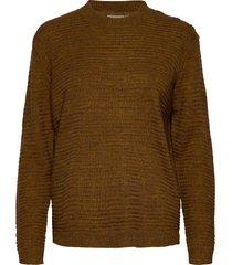 frlemeretta 1 pullover stickad tröja brun fransa