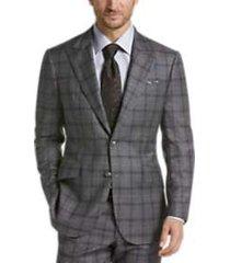 joseph abboud limited edition gray plaid slim fit suit