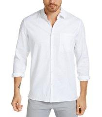 alfani men's solid linen shirt, created for macy's