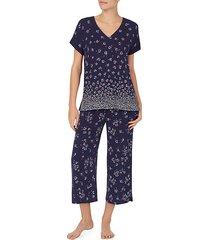 floral-print short-sleeve pajama top