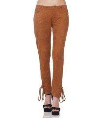 pantalón de mujer aishop aw171-1110-790 cafe