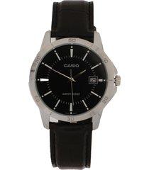 reloj  negro-plateado casio