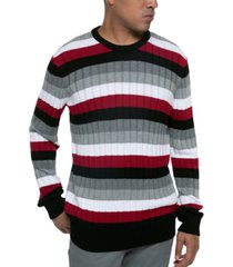 kenneth cole men's striped ribbed sweater