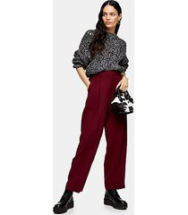 berry peg pants with elastic back - berry red