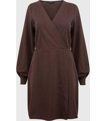 vestido vero moda elna  marrón - calce regular